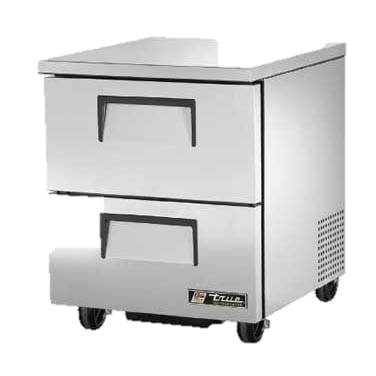 "superior-equipment-supply - True Food Service Equipment - True Stainless Steel One Section Two Drawers 27"" Wide Undercounter Refrigerator"