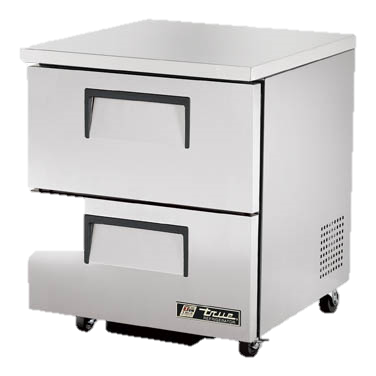 "superior-equipment-supply - True Food Service Equipment - True Stainless Steel One Section Two Drawers 27"" Wide ADA Undercounter Refrigerator"