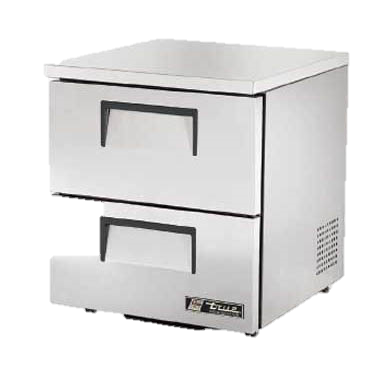 "superior-equipment-supply - True Food Service Equipment - True Stainless Steel One Section Two Drawers 27"" Wide Low Profile Undercounter Refrigerator"