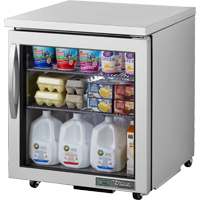 "superior-equipment-supply - True Food Service Equipment - True Stainless Steel One Section 27"" Wide ADA Compliant Undercounter Refrigerator"