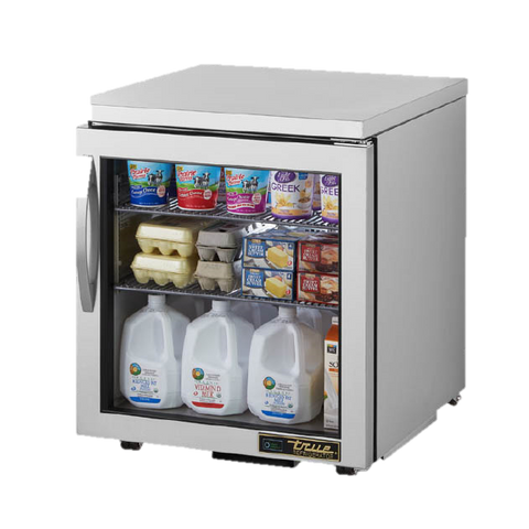 "superior-equipment-supply - True Food Service Equipment - True Stainless Steel One Section 27"" Wide Low Profile Undercounter Refrigerator"