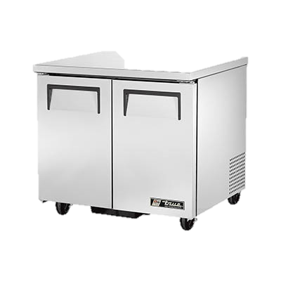 "superior-equipment-supply - True Food Service Equipment - True Stainless Steel Two Section 36"" Wide Undercounter Refrigerator"