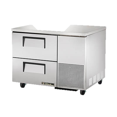 "superior-equipment-supply - True Food Service Equipment - True Stainless Steel 44"" Wide One Section Two Drawer Deep Undercounter Refrigerator"