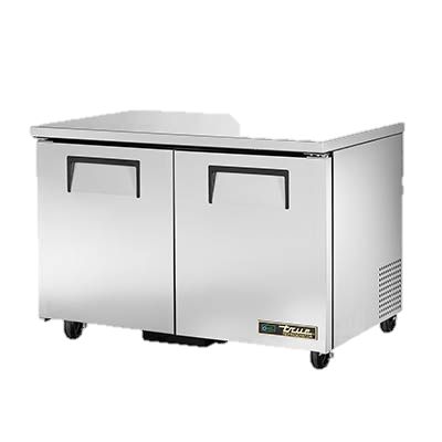 "superior-equipment-supply - True Food Service Equipment - True Stainless Steel Two Section 48"" Wide Undercounter Refrigerator"
