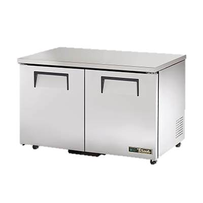 "superior-equipment-supply - True Food Service Equipment - True Stainless Steel Two Section 48"" Wide ADA Undercounter Refrigerator"