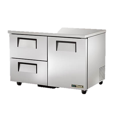"superior-equipment-supply - True Food Service Equipment - True Stainless Steel Two Section Two Drawer 48"" Wide Undercounter Refrigerator"
