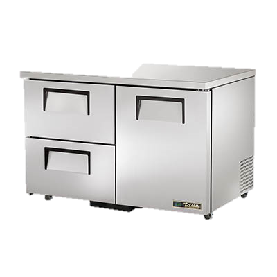 "superior-equipment-supply - True Food Service Equipment - True Stainless Steel Two Section Two Drawer 48"" Wide ADA Undercounter Refrigerator"