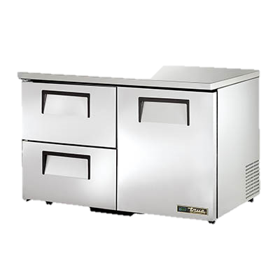 "superior-equipment-supply - True Food Service Equipment - True Stainless Steel Two Section Two Drawer 48"" Wide Low Profile Undercounter Refrigerator"