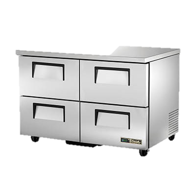 "superior-equipment-supply - True Food Service Equipment - True Stainless Steel Two Section Four Drawer 48"" Wide Undercounter Refrigerator"