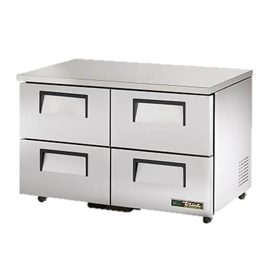 "superior-equipment-supply - True Food Service Equipment - True Stainless Steel Two Section Four Drawer 48"" Wide ADA Undercounter Refrigerator"