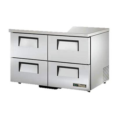 "superior-equipment-supply - True Food Service Equipment - True Stainless Steel Two Section Four Drawer 48"" Wide Low Profile Undercounter Refrigerator"