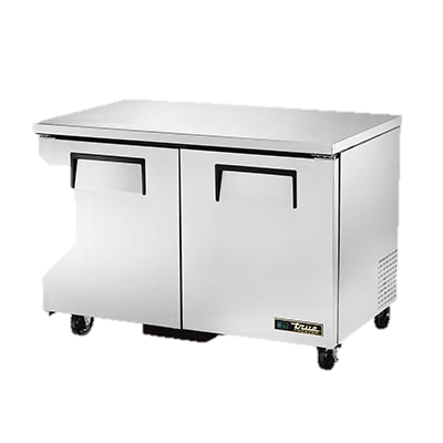 "superior-equipment-supply - True Food Service Equipment - True Stainless Steel Two Section 48"" Wide Undercounter Freezer"