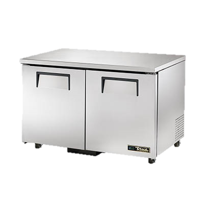 "superior-equipment-supply - True Food Service Equipment - True Stainless Steel Two Section 48"" Wide ADA Undercounter Freezer"