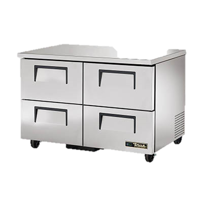 "superior-equipment-supply - True Food Service Equipment - True Stainless Steel Two Section Four Drawer 48"" Wide Undercounter Freezer"