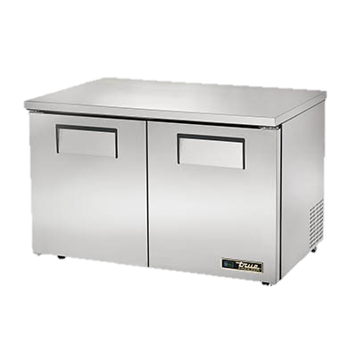 "superior-equipment-supply - True Food Service Equipment - True Stainless Steel Two Section 48"" Wide Low Profile Undercounter Freezer"