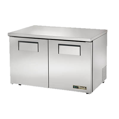 "superior-equipment-supply - True Food Service Equipment - True Stainless Steel Two Section 48"" Wide Low Profile Undercounter Refrigerator"