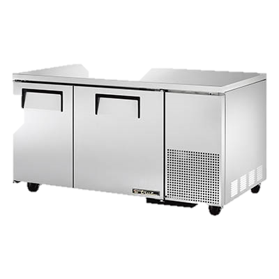 "superior-equipment-supply - True Food Service Equipment - True Stainless Steel 60"" Wide Two Section Deep Undercounter Refrigerator"