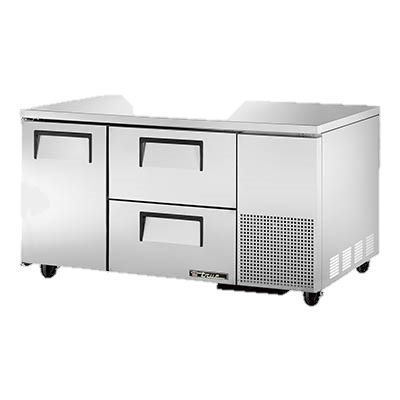 "superior-equipment-supply - True Food Service Equipment - True Stainless Steel 60"" Wide Two Section Two Drawer Deep Undercounter Refrigerator"