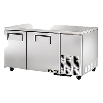 "superior-equipment-supply - True Food Service Equipment - True Stainless Steel 60"" Wide Two Section Deep Undercounter Freezer"