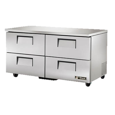 "superior-equipment-supply - True Food Service Equipment - True Stainless Steel Two Section Four Drawer 60"" Wide Undercounter Refrigerator"