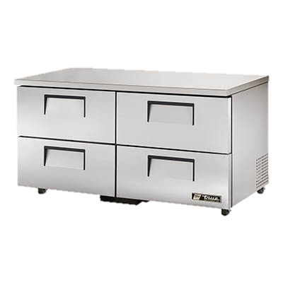 "superior-equipment-supply - True Food Service Equipment - True Stainless Steel Two Section Four Drawer 60"" Wide ADA Undercounter Refrigerator"