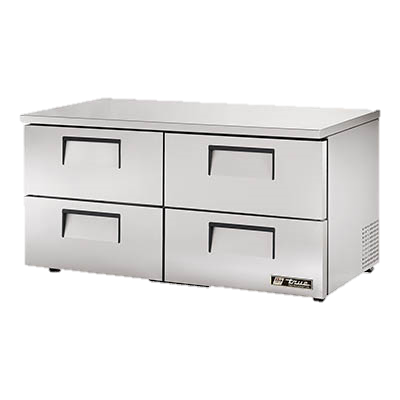 "superior-equipment-supply - True Food Service Equipment - True Stainless Steel Two Section Four Drawer 60"" Wide Low Profile Undercounter Refrigerator"