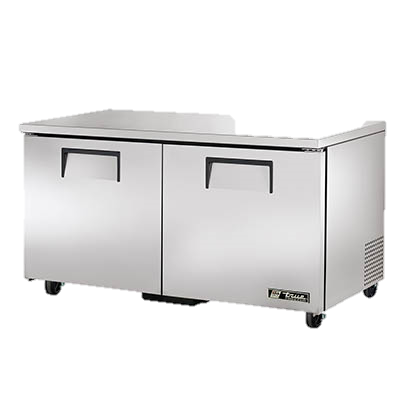 "superior-equipment-supply - True Food Service Equipment - True Stainless Steel 60"" Wide Two Section Undercounter Freezer"