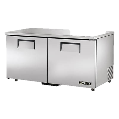 "superior-equipment-supply - True Food Service Equipment - True Stainless Steel 60"" Wide Two Section ADA Undercounter Freezer"