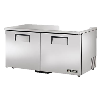 "superior-equipment-supply - True Food Service Equipment - True Stainless Steel 60"" Wide Two Section Low Profile Undercounter Freezer"