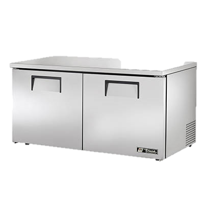 "superior-equipment-supply - True Food Service Equipment - True Stainless Steel Two Section 60"" Wide Low Profile Undercounter Refrigerator"