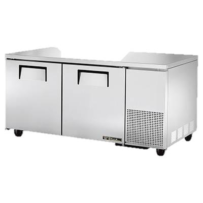 "superior-equipment-supply - True Food Service Equipment - True Stainless Steel 67"" Wide Two Section Deep Undercounter Refrigerator"