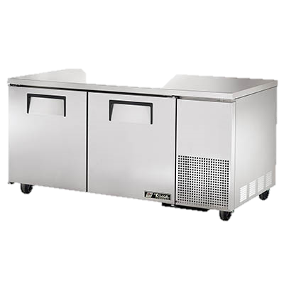 "superior-equipment-supply - True Food Service Equipment - True Stainless Steel 67"" Wide Two Section Deep Undercounter Freezer"