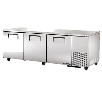 "superior-equipment-supply - True Food Service Equipment - True Stainless Steel Three Section 93"" Wide Undercounter Refrigerator"