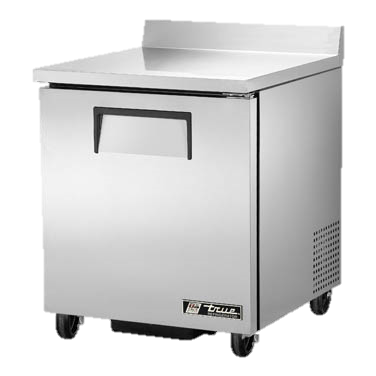 "superior-equipment-supply - True Food Service Equipment - True Stainless Steel One Section 27"" Wide Work Top Refrigerator"