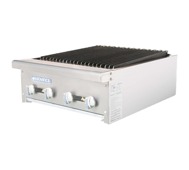 "Turbo Air Stainless Steel 24"" Wide Radiance Charbroiler Gas"