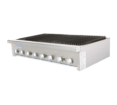 "Turbo Air Stainless Steel 48"" Wide Radiance Charbroiler Gas"