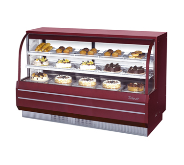 "superior-equipment-supply - Turbo Air - Turbo Air 72.5"" Wide Full Service Non-Refrigerated Bakery Case"
