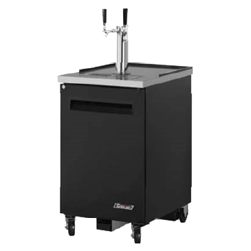 "superior-equipment-supply - Turbo Air - Turbo Air Black Laminated Exterior One-Door 23.63"" Wide Beer Dispenser"