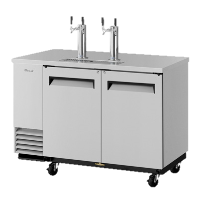 "superior-equipment-supply - Turbo Air - Turbo Air Stainless Steel Two-Door 58.75"" Wide Super Deluxe Beer Dispenser"