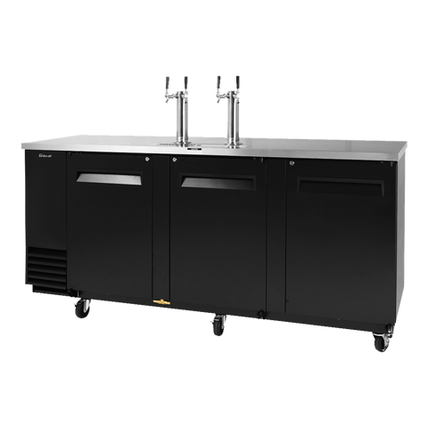 "superior-equipment-supply - Turbo Air - Turbo Air Black Laminated Exterior Three-Door 90.38"" Wide Beer Dispenser"