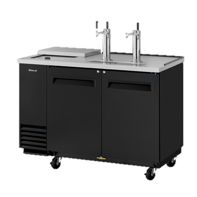 "superior-equipment-supply - Turbo Air - Turbo Air Black Laminated Exterior Two-Door 58.88"" Wide Club Top Beer Dispenser"