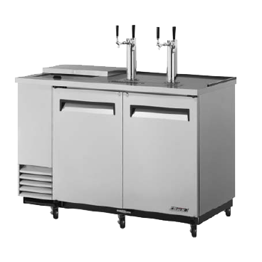 "superior-equipment-supply - Turbo Air - Turbo Air Stainless Steel Two-Door 58.88"" Wide Super Deluxe Club Top Beer Dispenser"
