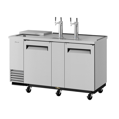 "superior-equipment-supply - Turbo Air - Turbo Air Stainless Steel Two-Door 69.13"" Wide Super Deluxe Club Top Beer Dispenser"