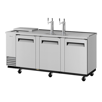 "superior-equipment-supply - Turbo Air - Turbo Air Stainless Steel Three-Door 90.38"" Wide Super Deluxe Club Top Beer Dispenser"