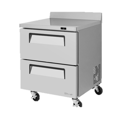 "superior-equipment-supply - Turbo Air - Turbo Air One-Section 27.5"" Wide Stainless Steel Super Deluxe Worktop Freezer"