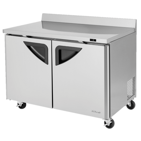 "superior-equipment-supply - Turbo Air - Turbo Air Two-Section 48.25"" Wide Stainless Steel Super Deluxe Worktop Freezer"