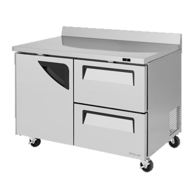"superior-equipment-supply - Turbo Air - Turbo Air Two-Section 48.25"" Wide Two-Drawer Stainless Steel Super Deluxe Worktop Freezer"
