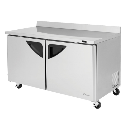 "superior-equipment-supply - Turbo Air - Turbo Air Two-Section 60.25"" Wide Stainless Steel Super Deluxe Worktop Freezer"