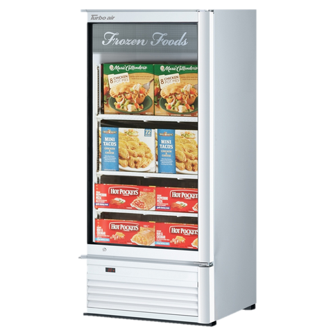 "superior-equipment-supply - Turbo Air - Turbo Air 25.75"" One-Section Wide Super Deluxe Glass Freezer Merchandiser"