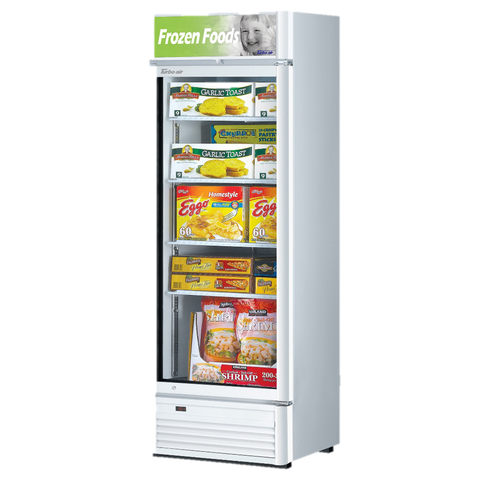 "superior-equipment-supply - Turbo Air - Turbo Air 26.38"" One-Section Wide Super Deluxe Glass Freezer Merchandiser"